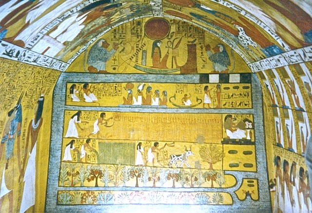 The tomb of sennedjem prof s ancient egypt derek hitchins for Ancient egyptian tomb decoration